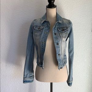 Abercrombie & Fitch Jackets & Coats - 💜 Abercrombie & Fitch Distressed Denim Jacket siz